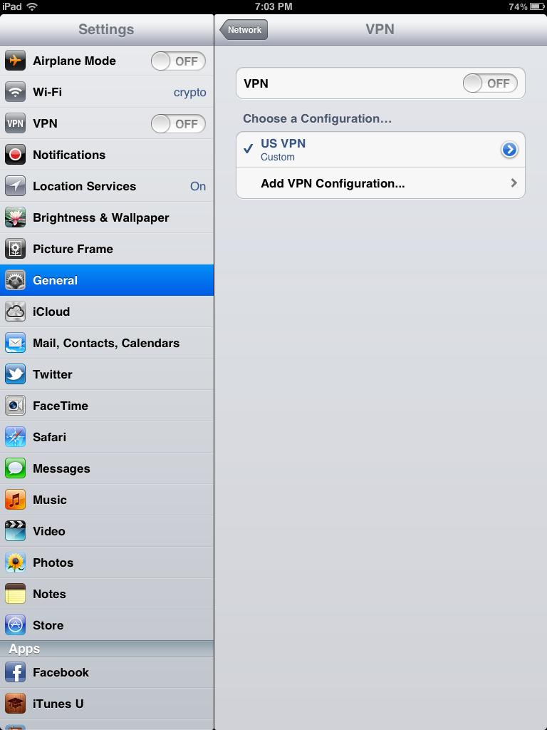 iPad VPN Connection