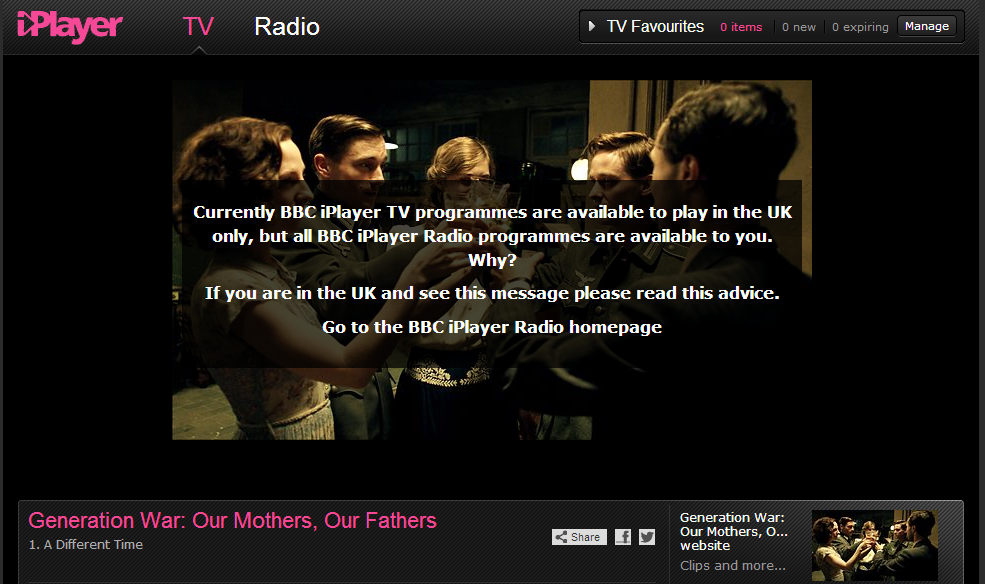 Surfing iPlayer USA