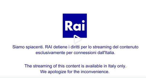 RAI streaming Estero